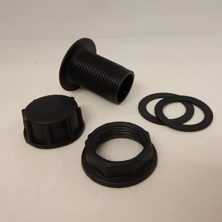 "1"" Bulkhead Drain with Cap"